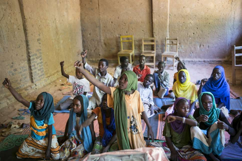 Chad. Educate A Child (EAC) program in Djabal Refugee Camp