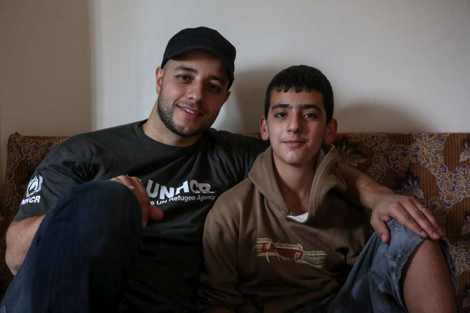 "UNHCR High Profile Supporter, Maher Zain, in Lebanon with 12-year-old Syrian refugee, Mahmoud.  The day Mahmoud's family left Syria started off as a 'normal' day – that means shootings and mortar shells – but things escalated and became even more intense than usual. ""My mother told us to get ready to leave. We packed lightly because we didn't think we would be away for long – a few hours or maybe a few days at most. I packed only my favourite things – some clothes and toys."""