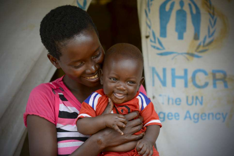 After fleeing violence in Burundi, Jacqueline found safety and shelter – and a place to give birth to young Dani – in Tanzania's Nduta refugee camp.