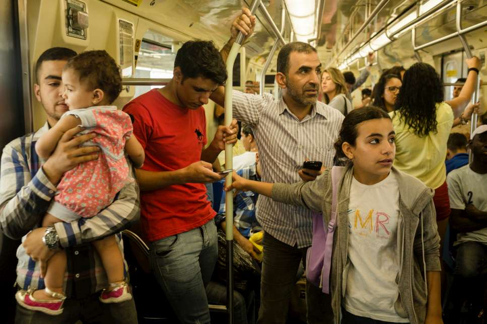 Khaled and his family live in the city centre and often take the subway to the shopping mall on Sundays. Brazil is now home to 8,400 refugees from over 60 countries.