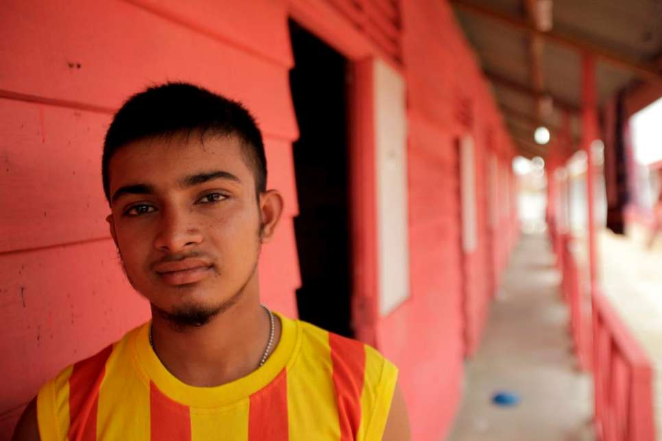 Kasim was rescued by Indonesian fishermen from a sinking smugglers' boat.