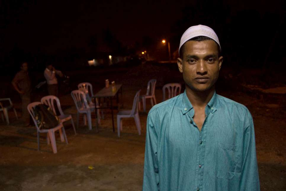 Hassan fled violence in Myanmar in 2012. A year ago, his wife and sons boarded a smugglers' boat to join him in Malaysia, but were rescued in Indonesia.