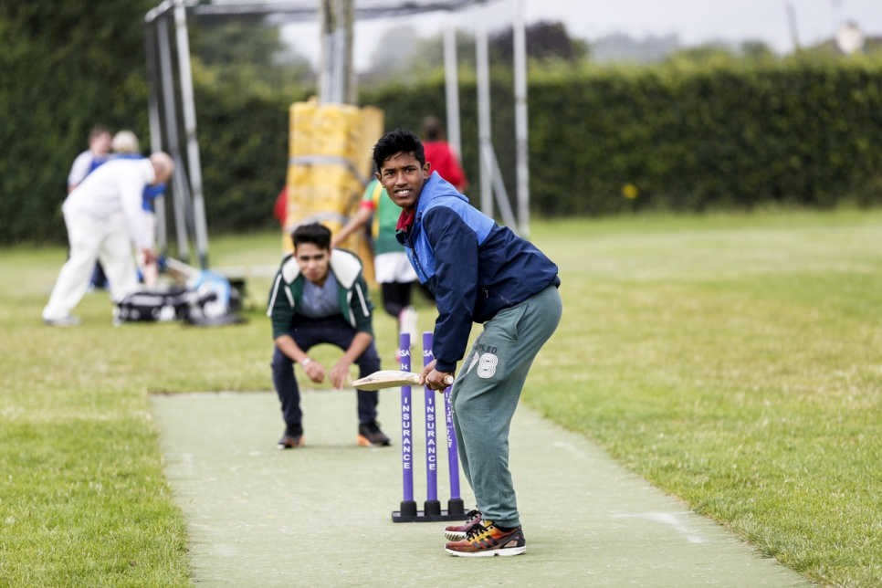 Ireland. Cricket pratice at Carlow Cricket Club