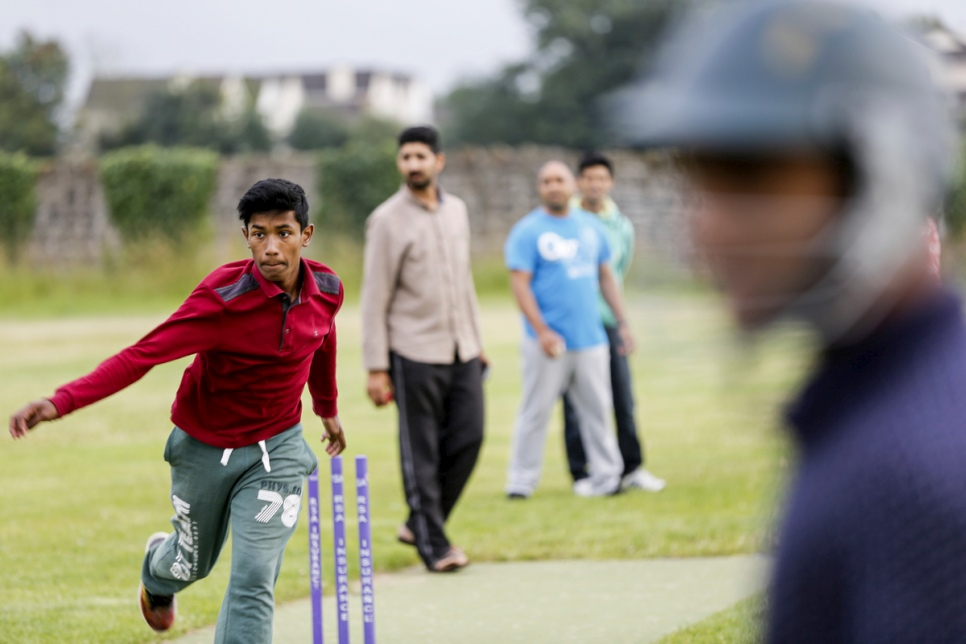 Ireland. Cricket training in Carlow Cricket Club