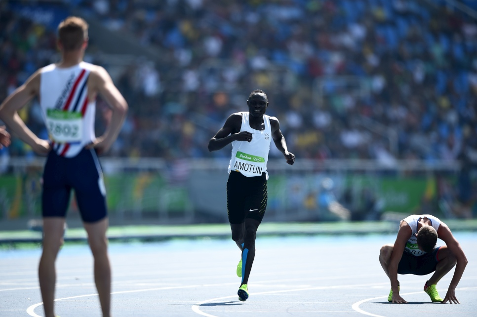 Team Refugees: Paulo Amotun Lokoro runs at Rio2016