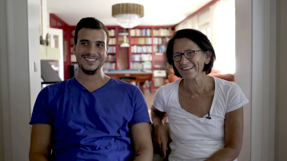 Austrian couple make Syrian guest part of the family