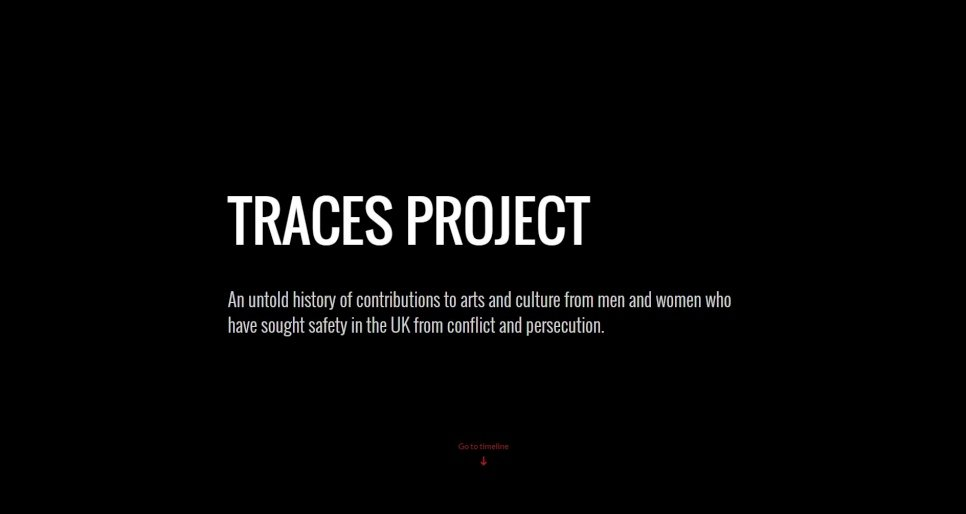 Traces project screen grab