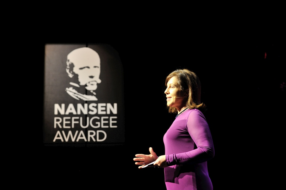 BBC's Chief International Correspondent, Lyse Doucet, gave the keynote address at the 2016 Nansen Refugee Award ceremony.
