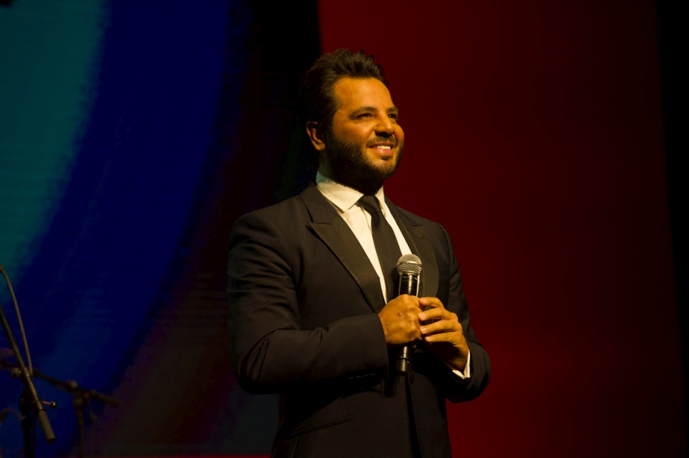 Lebanese TV host and UNHCR High Profile Supporter, Neshan, served as Master of Ceremonies.