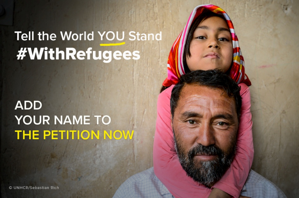 Will you stand #WithRefugees?