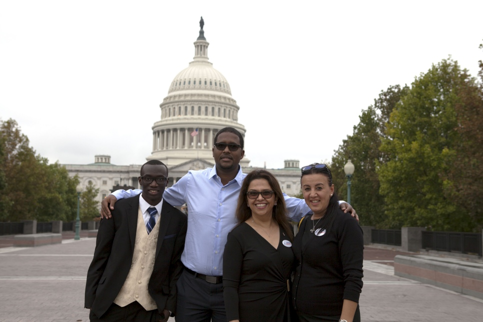 Refugee Congress delegates 2016 on Capitol Hill