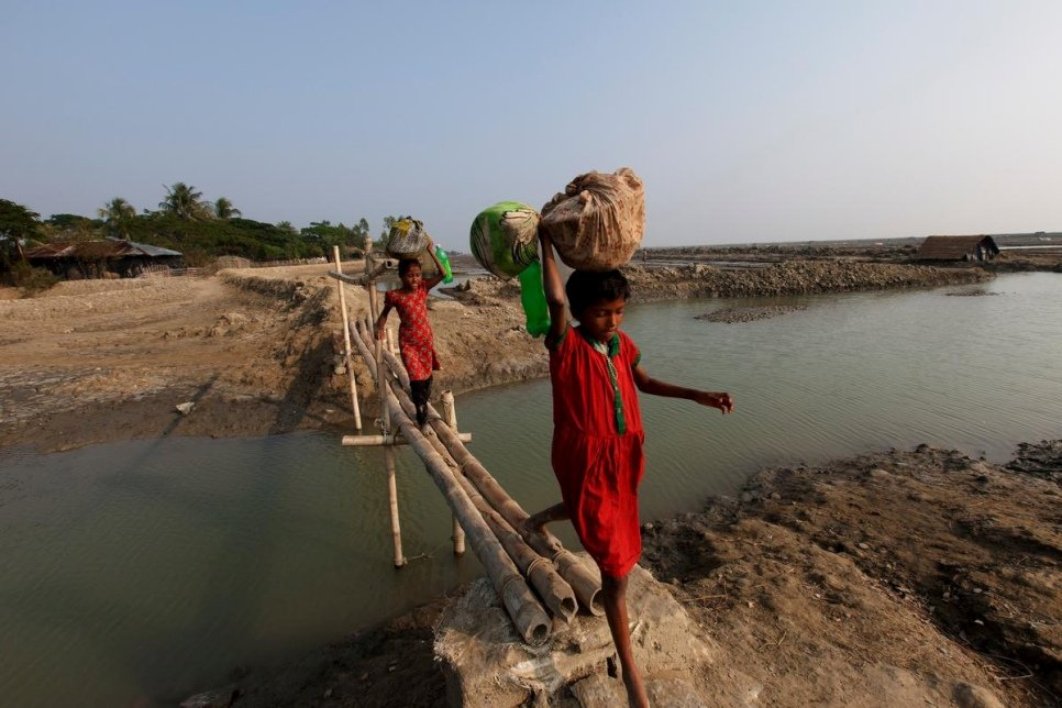 Bangladesh. Climate displaced people in Cox's Bazar