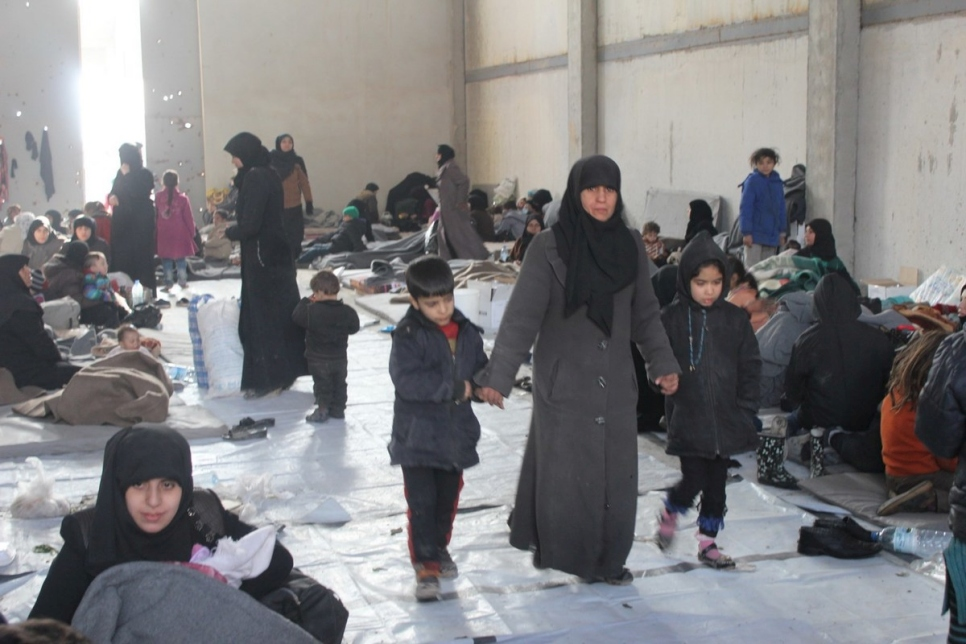 Syria. Providing assistance to the newly displaced from East Aleppo