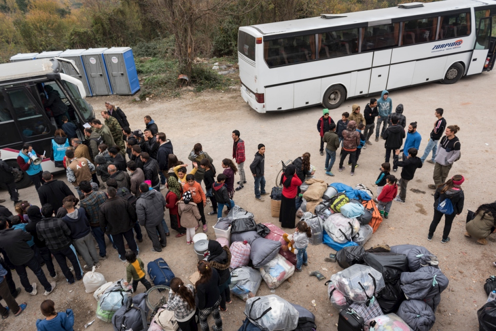 Greece. Yazidis evacuated for winter