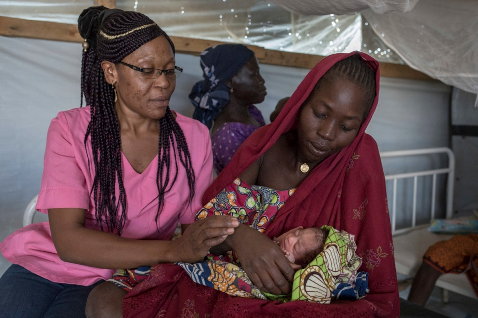 Cameroon. Maternity of Minawao refugee camp