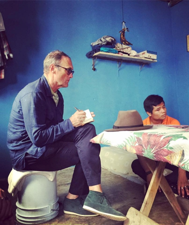 AA Gill in Chiapas, southern Mexico interviewing a gay couple fleeing gang violence in Central America.
