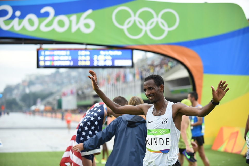 Brazil. An Ethiopian refugee completes his journey to the Olympics