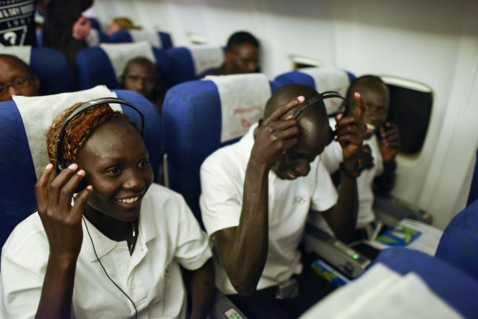 Brazil. Ready for take off, South Sudanese athletes on their way to the Rio Olympics