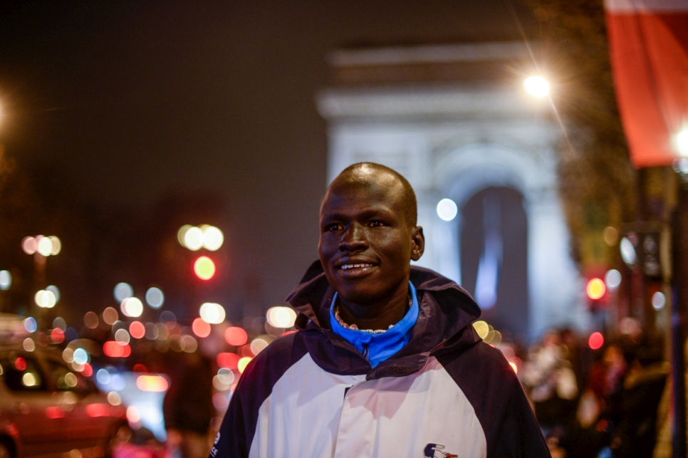 France. Yiech Pur Biel and Rami Anis in Paris