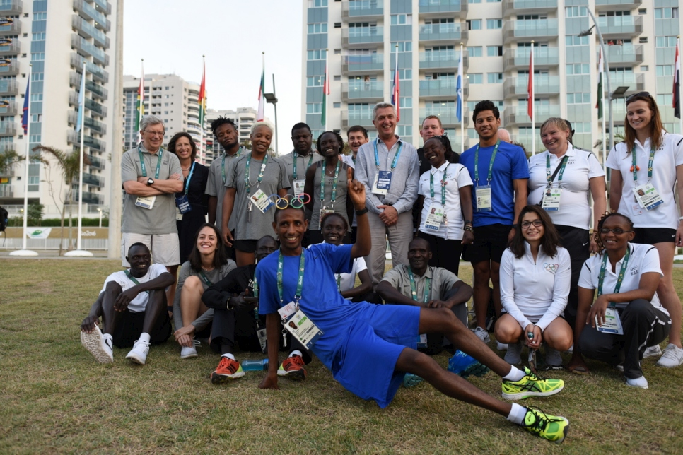 Brazil. Filippo Grandi visits the Olympic Village