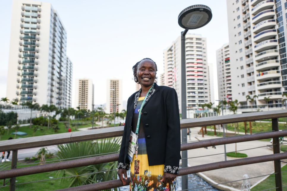 Brazil. Tegla Loroupe at the Olympic Village in Rio