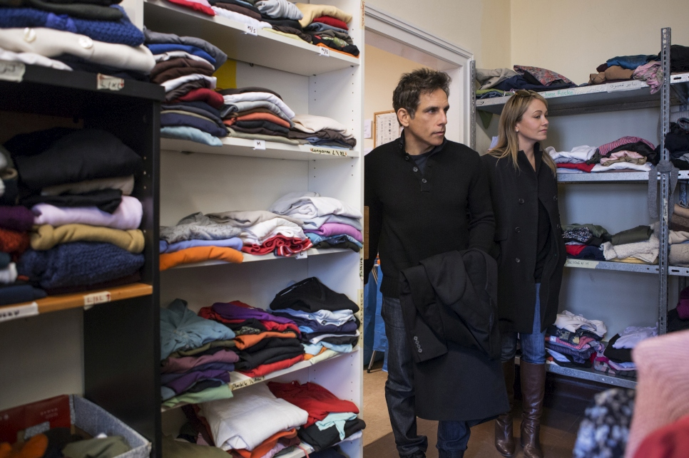 Nahed guided Ben and his wife Christine around the centre which includes store rooms with clothes, shoes and other provisions donated by the public, medical and counseling facilities, and classrooms where refugees and asylum seekers can learn German.