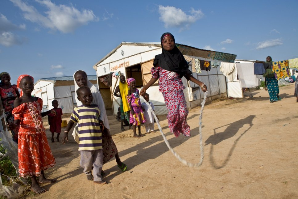 Nigeria. Internally displaced people in Bakassi camp, Maiduguri
