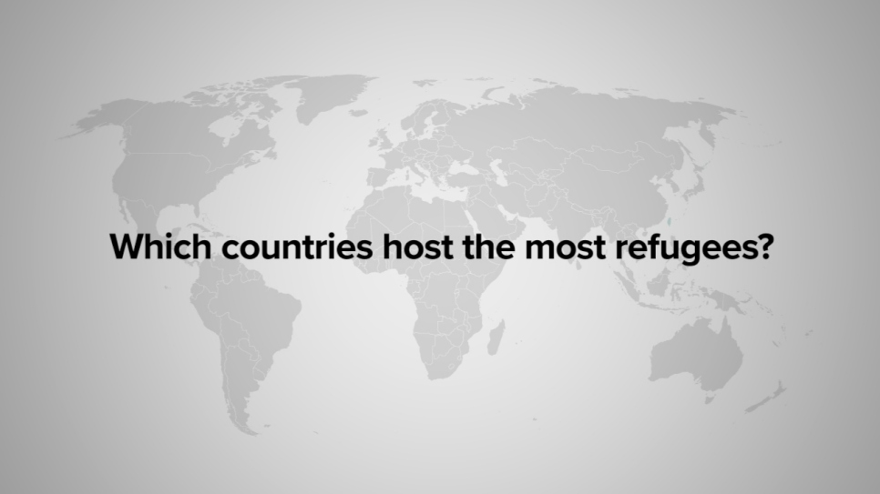 Which countries host the most refugeese
