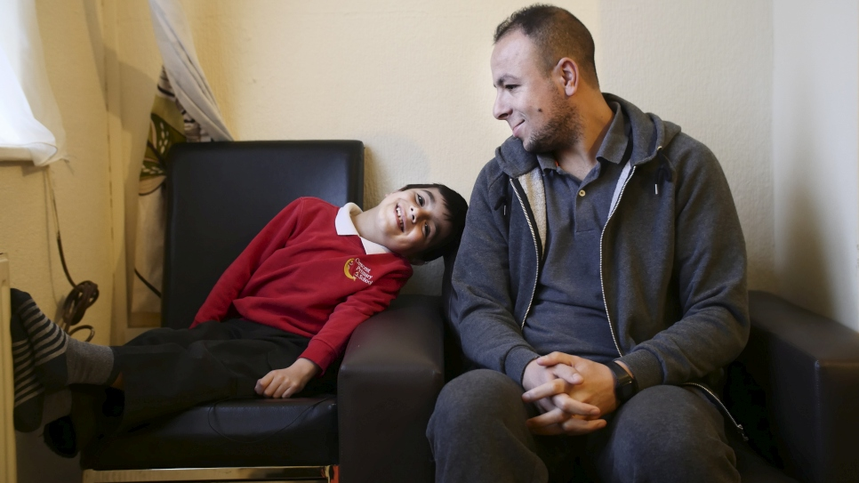 Syrian goalkeeper and son