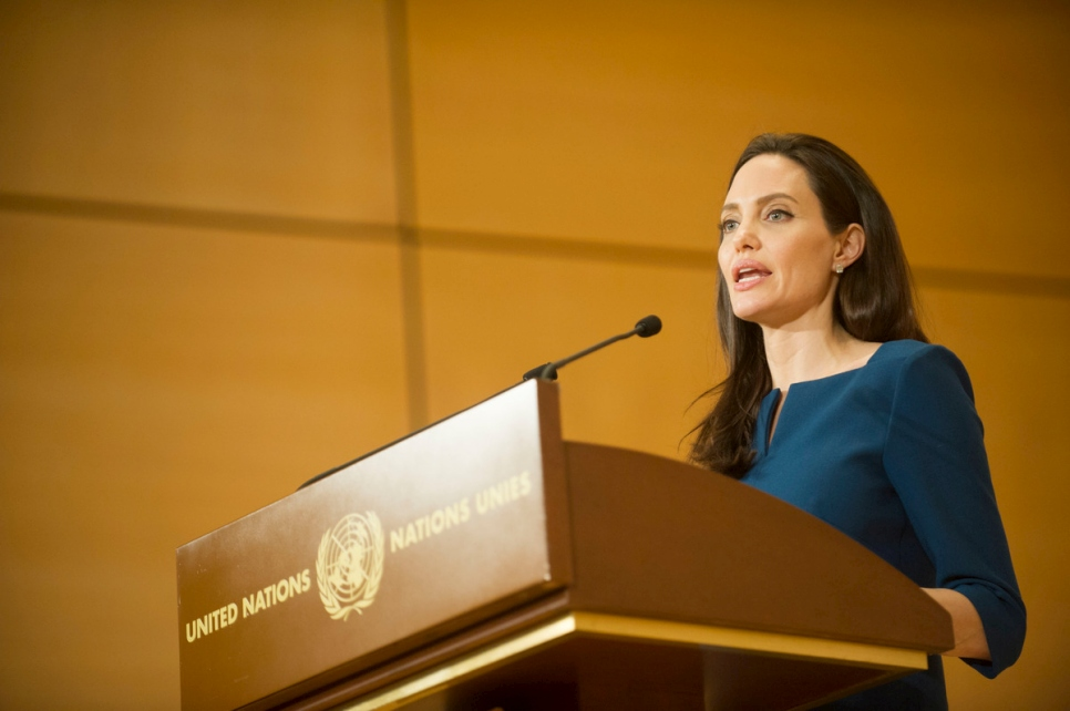Switzerland. Angelina Jolie delivers memorial lecture