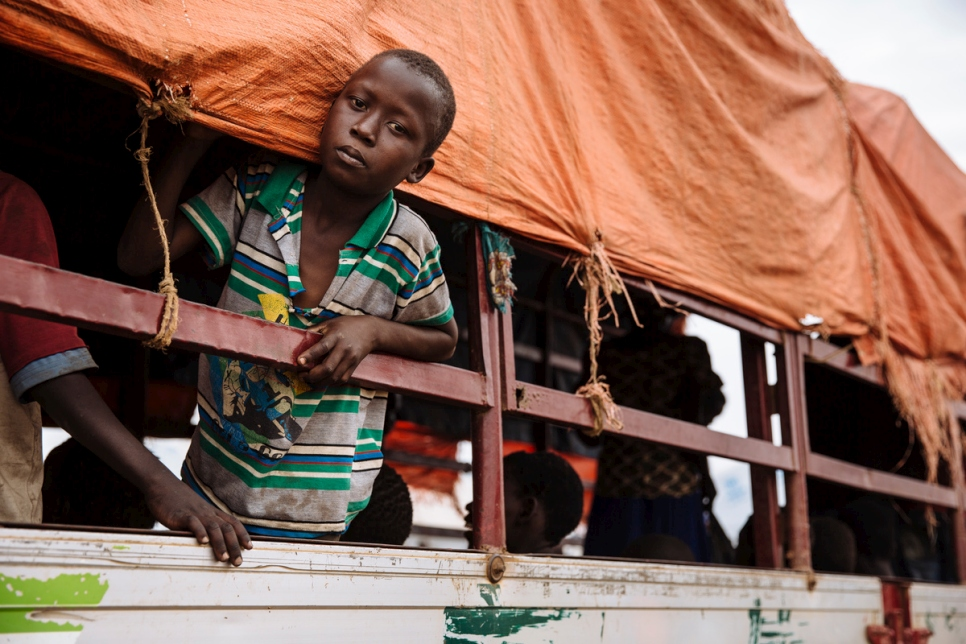 Uganda. South Sudanese refugees at the Imvepi reception centre