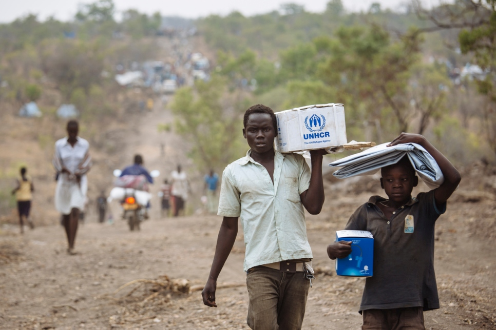 Uganda. South Sudanese refugees in Bidibidi settlement