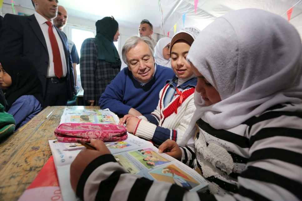 Jordan. Visit of the UN Secretary-General