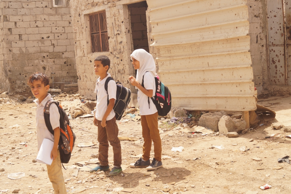 Yemen. Living in devastated Basateen district
