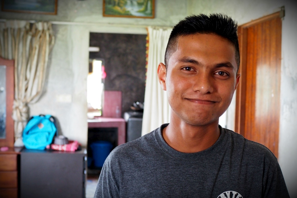 16 year-old Rohingyan refugee, Zaid at his home in Malaysia.