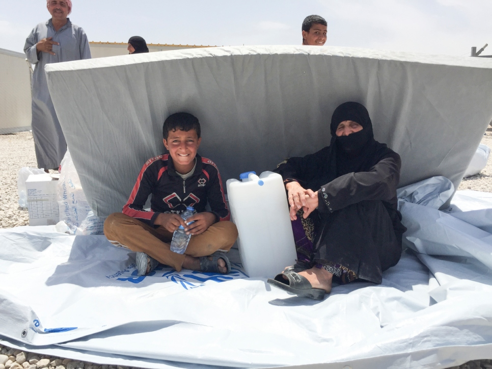 Iraq. Hasansham U2 camp opens for West Mosul displaced