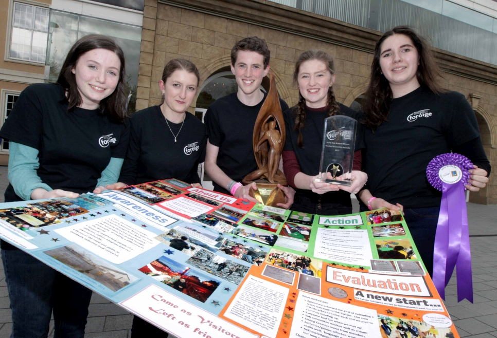 Foróige Ballaghaderreen winners of the Youth Citizenship Awards