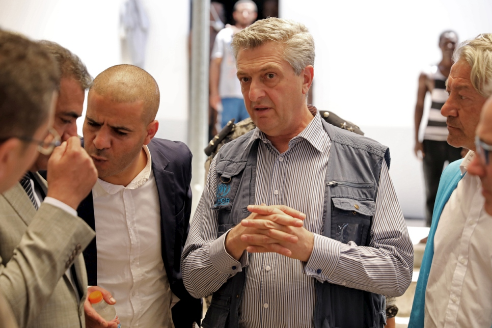 Libya. UNHCR High Commissioner Filippo Grandi visits Tariq al-Sikka detention facility