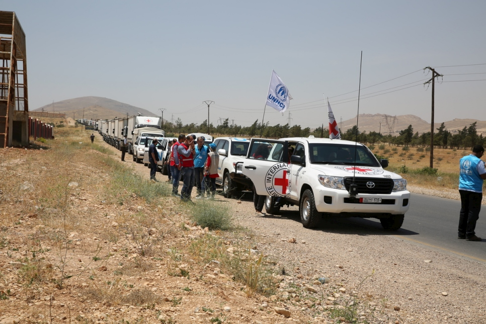 Syria. Aid deliveries reaches Jayrud, and for the first time Nasriyeh and Atna