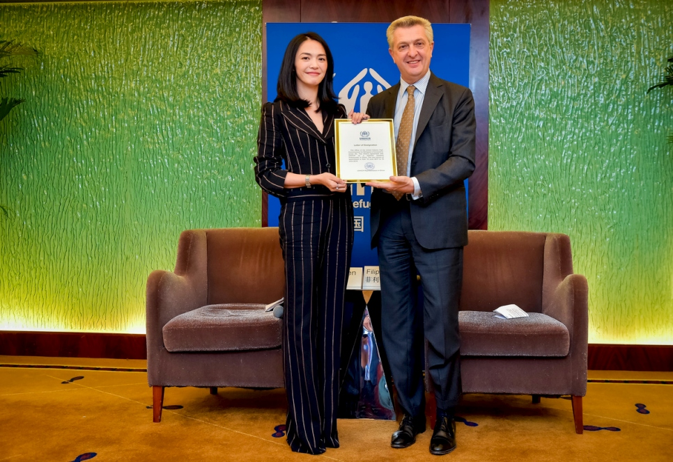 China. High Commissioner with Goodwill Ambassador Yao Chen
