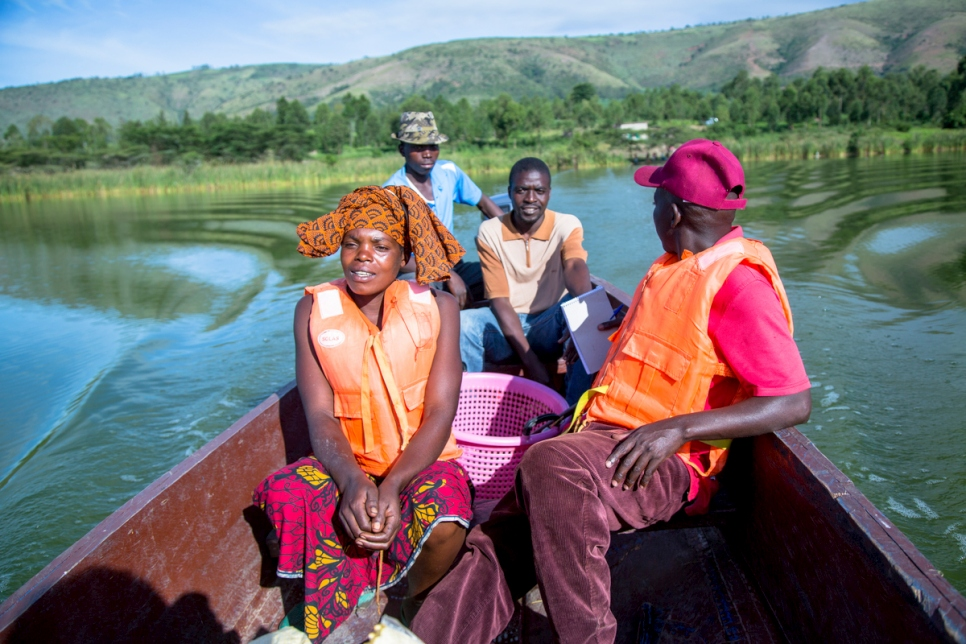 Uganda. Refugees and nationals run the first ever fish farm in Uganda