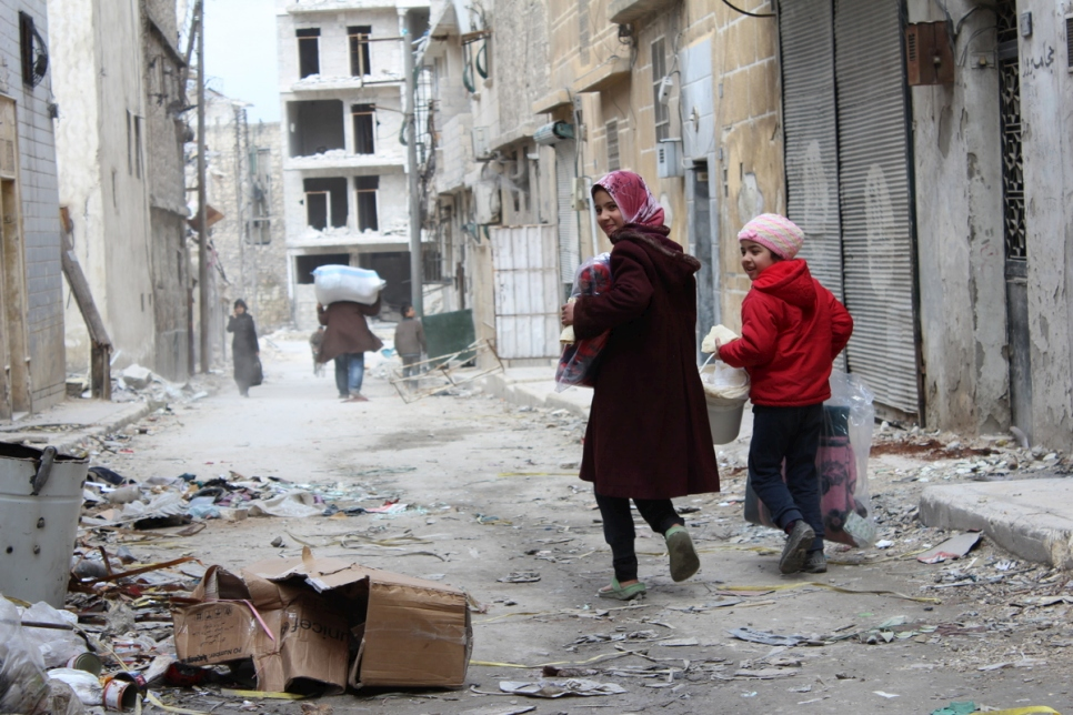 Syria. Emergency aid reaches East Aleppo