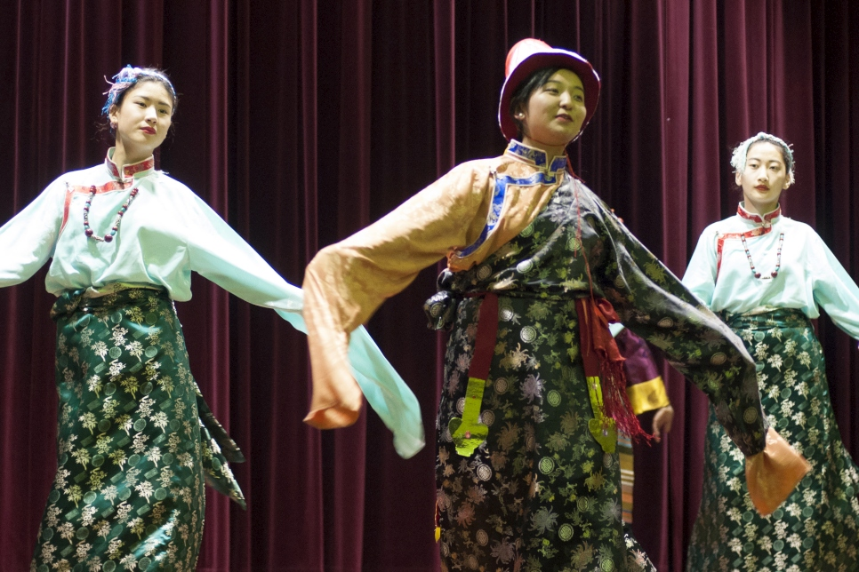 ACT Tibetan Community perform 'Sungsoom Ghi Zhedrin' dance demonstrates the kinship and the unity of the people from the three provinces Dotoe, Domey and U-Tsang,