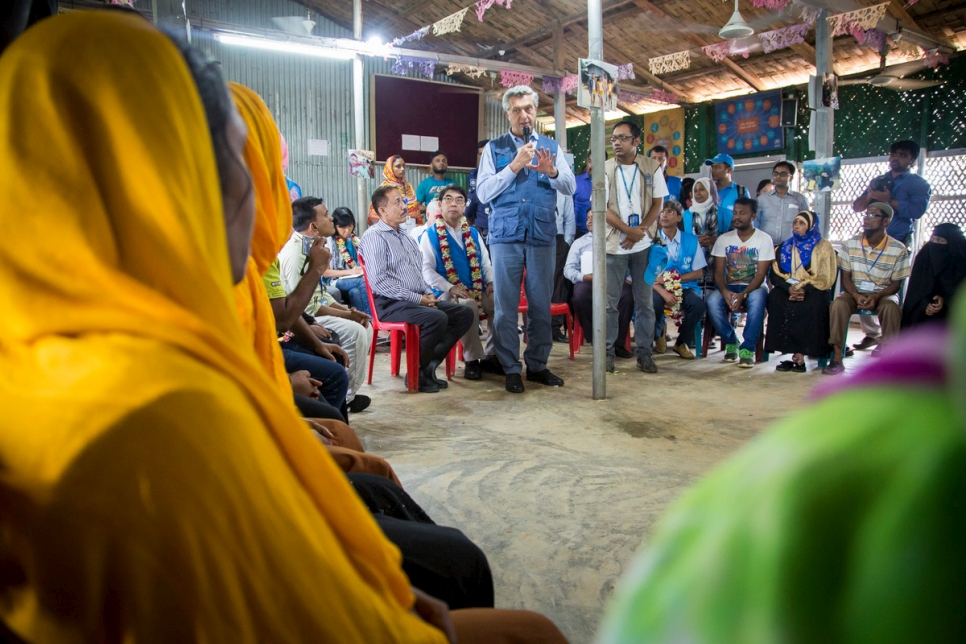 Bangladesh. UNHCR High Commissioner Filippo Grandi Visits Rohingya at Kutupalong Refugee Camp
