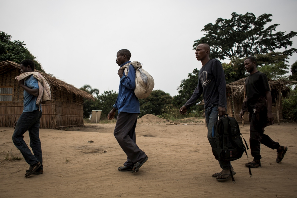 Displaced people from Kasai province seek refuge in the town of Idiofa.