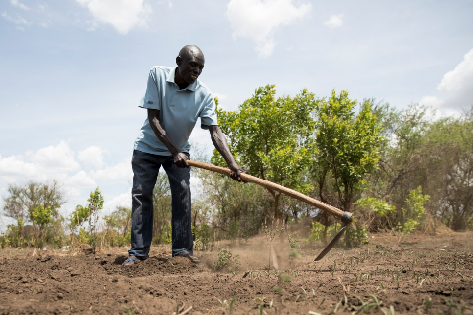 Ugandan farmer Yahaya Onduga is head of the Local Committee in Bidibidi, which acts as a liaison between the host community and South Sudanese refugees.   Yahaya was himself a refugee in Sudan (now South Sudan) in 1982, having fled fighting in Uganda at the time.