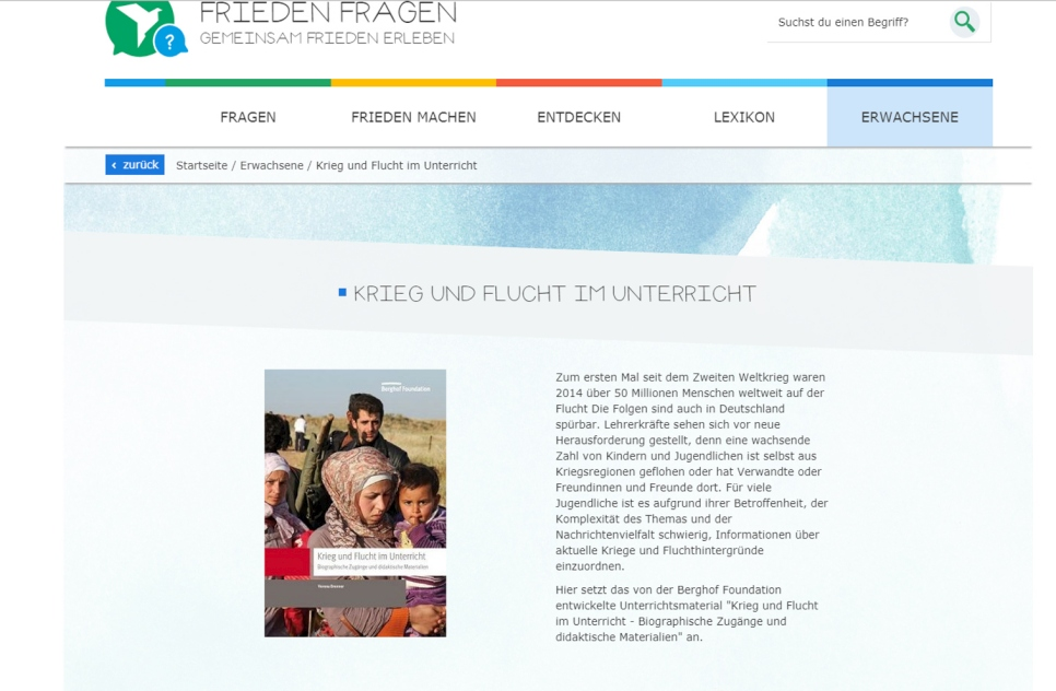 Frieden Fragen educational materials