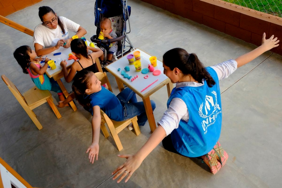 Guatemala. UNHCR along The Migrant House work on the project Children of Peace.