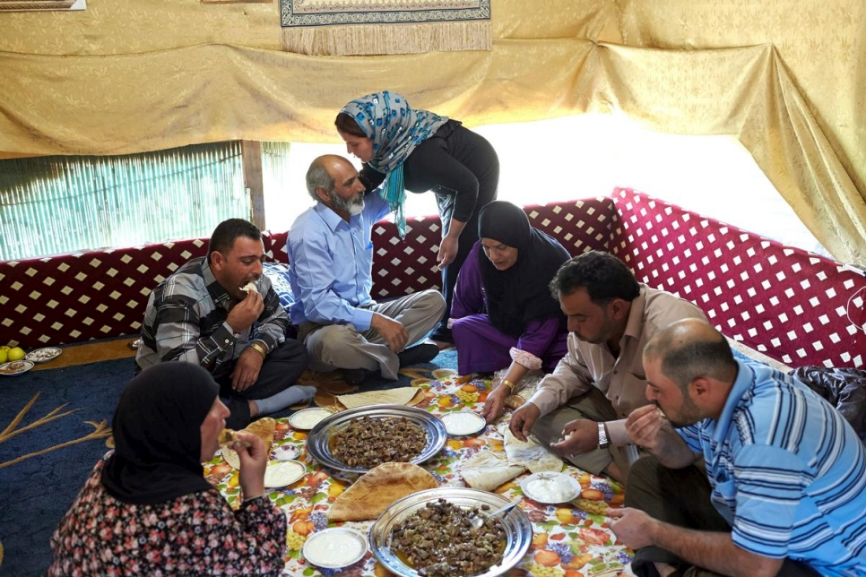Lebanon. A Syrian refugee family forgets war and celebrates Eid al-Adha