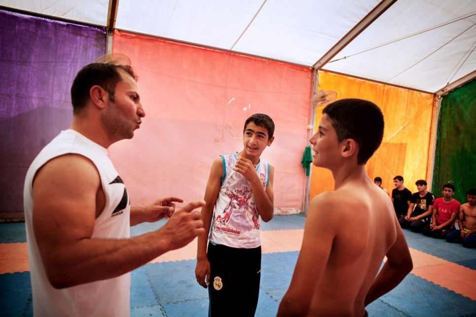Jordan. Syrian wrestling champ inspires young refugee's dreams